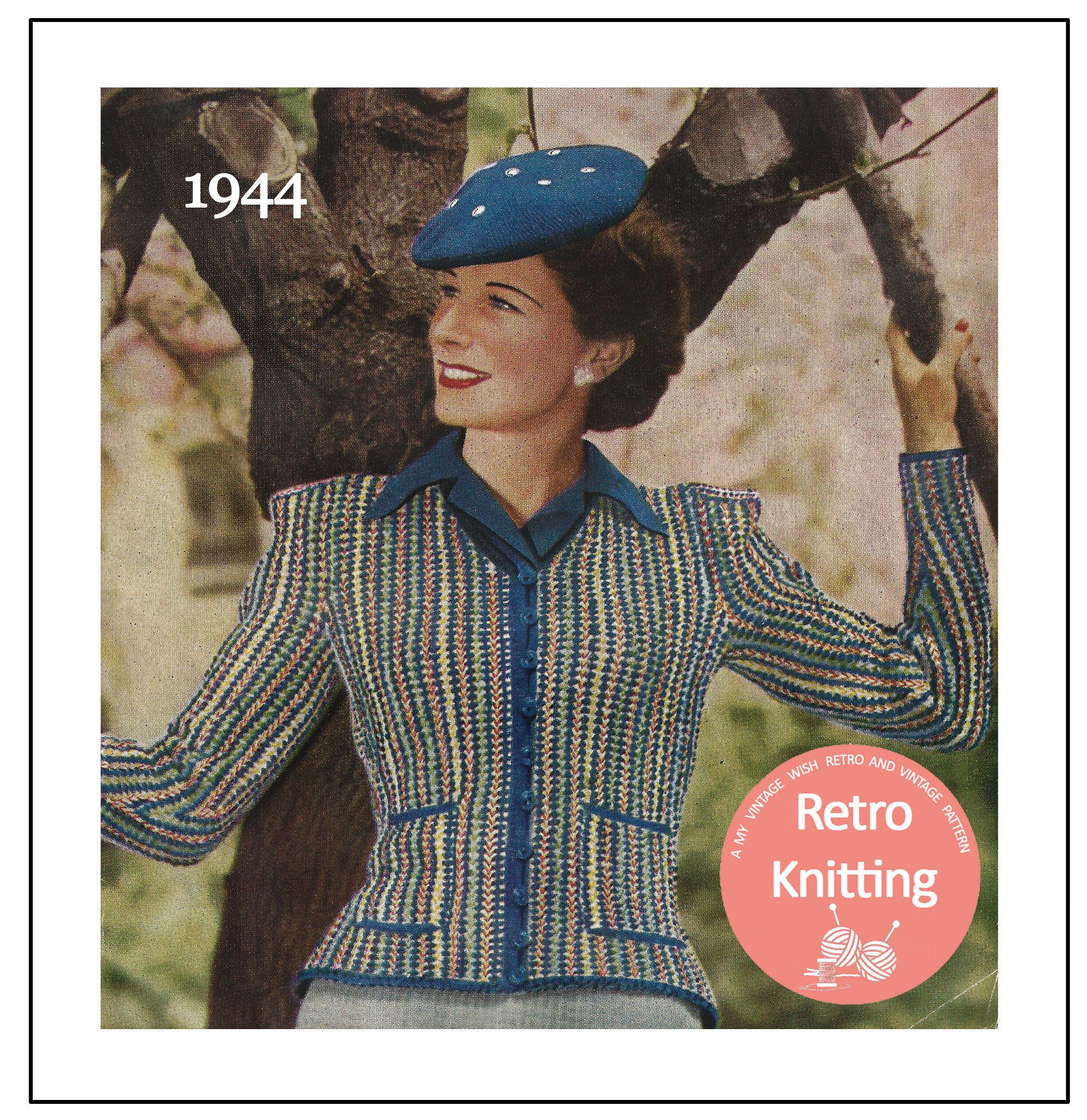 0c557897f 1940 s Lady s Jacket and Beret Vintage Knitting Pattern - PDF Knitting  Pattern - PDF Instant Download from MyVintageWish on Etsy Studio