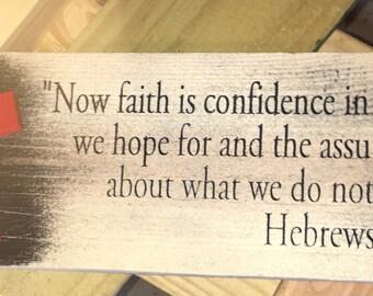 Hebrews Plaque