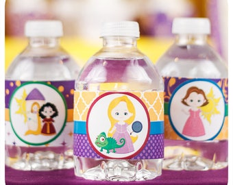 Tangled party; Tangled PDF Birthday Party; Tangled PDF Water Bottle Wrappers; Rapunzel Party; Tangled Party Decor; Tangled; Tangled Birthday
