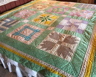 no. 5001 Sampler Quilt hand sewn and quilted