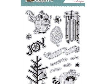Photo Play WINTER MEADOW Clear Polymer Stamp Set