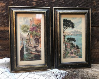 Turner Wall Accessory Pictures/Set of Two/Wood Frames/Mediterranean Scenes