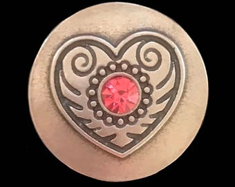 Heart Snap Button 18 mm