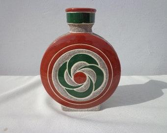 Mid Century Vase Pottery Ceramic Ukranian Decor Bohemian Boho Chic Jewelry Dish Ceramic Modern Decor Mod Vintage Retro Serving Colorful