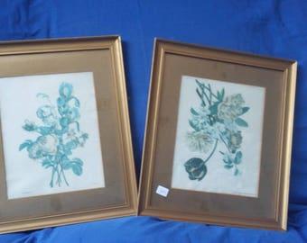 Large Pair Vintage Gilt Frames and Mounts Glazed