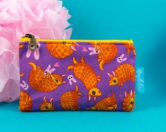 Armadillo Make up Case, Armadillo Mini Cosmetic Bag, Cute Make-up Pouch, Charmadillo