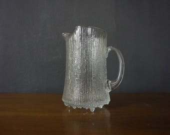 Vintage iittala Ultima Thule Glass Pitcher Designed by Tapio Wirkkala