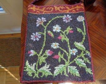 Beaded Bag w/ Velvet Backing