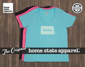 North Dakota Home. T-shirt- Women's Curvy Fit