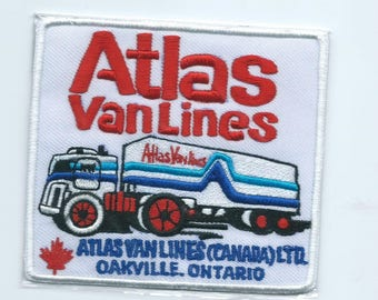 Atlas Van Lines Canada Ltd Oakville ON truck driver patch 4 X 4-3/8