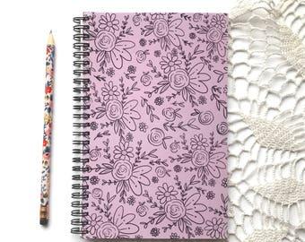 Floral Notebook // Spiral Bound Notebook