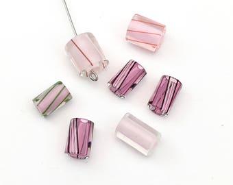 7 furnace glass beads,hand blow#PV095B