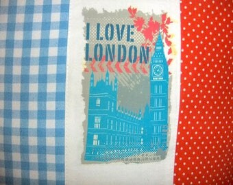 Cushion cover with application from London, cushion cover, London