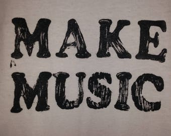 "Black or White ""Music"" T-shirt (Glow-in-the-dark)"