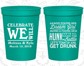 Teal Stadium Cups, Teal Cups, Teal Party Cups, Teal Wedding Cups (518)