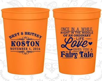 Orange Stadium Cups, Orange Cups, Orange Party Cups, Orange Wedding Cups (542)