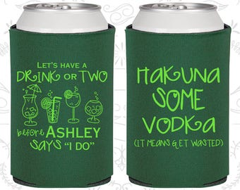 Lets have a drink or two before she says I do, Printed Bachelorette Favors, Hakuna some vodka, Bachelorette Favors (60119)