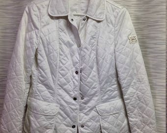 Husky white quilted jacket made in Italy,preowned,  size 4