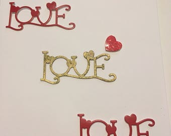 """Valentines card """"love"""" personalised with recipinents name email me with name"""