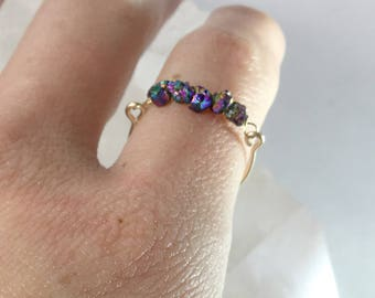 Rainbow Nugget Ring