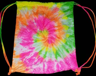Neon Draw String Bag