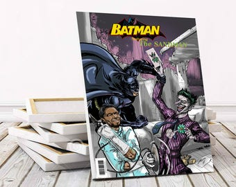 Personalised superhero wall art. Custom comic book cover. Custom comic illustration. Custom comic cover printed on 30x45cm canvas