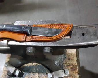 Handmade straight back Damascus knife