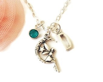 Fairy Necklace, Necklaces for Girls, Fairy Gifts, Gifts for Daughters, Birthstone Necklaces, Birthday Gifts for Girls, Australian Seller