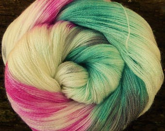 MERINO wool / TENCEL, Laceweight, Mollycoddle Yarns, Indie Dyer, Hand dyed wool, Lace, shawl, 100 gms, 800 mts