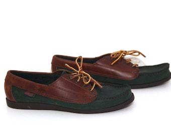 Vintage 80s shoes leather mocs shoes womens 8.5 preppy Bass