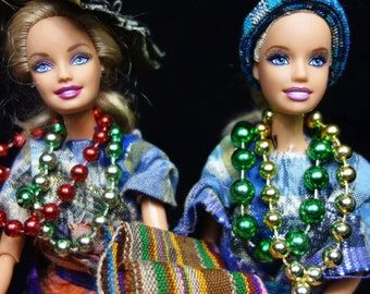 Set of two Barbies with Guatemalan  costume