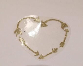 Heart arrow iron pattern