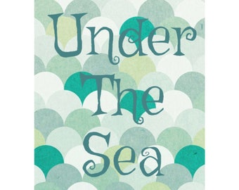 Under The Sea, Party Decoration, Digital Download, 8x10