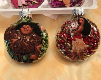 Handmade Moana or Maui Christmas Ornament!!!!!