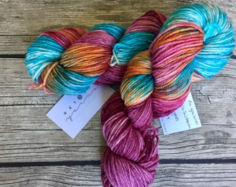 As You Wish - Superwash Merino Hand Dyed Yarn - Worsted Weight Yarn - Hand Dyed Yarn