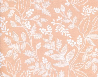 Queen Anne in Peach by Rifle Paper Co. from the Les Fleurs collection for Cotton and Steel