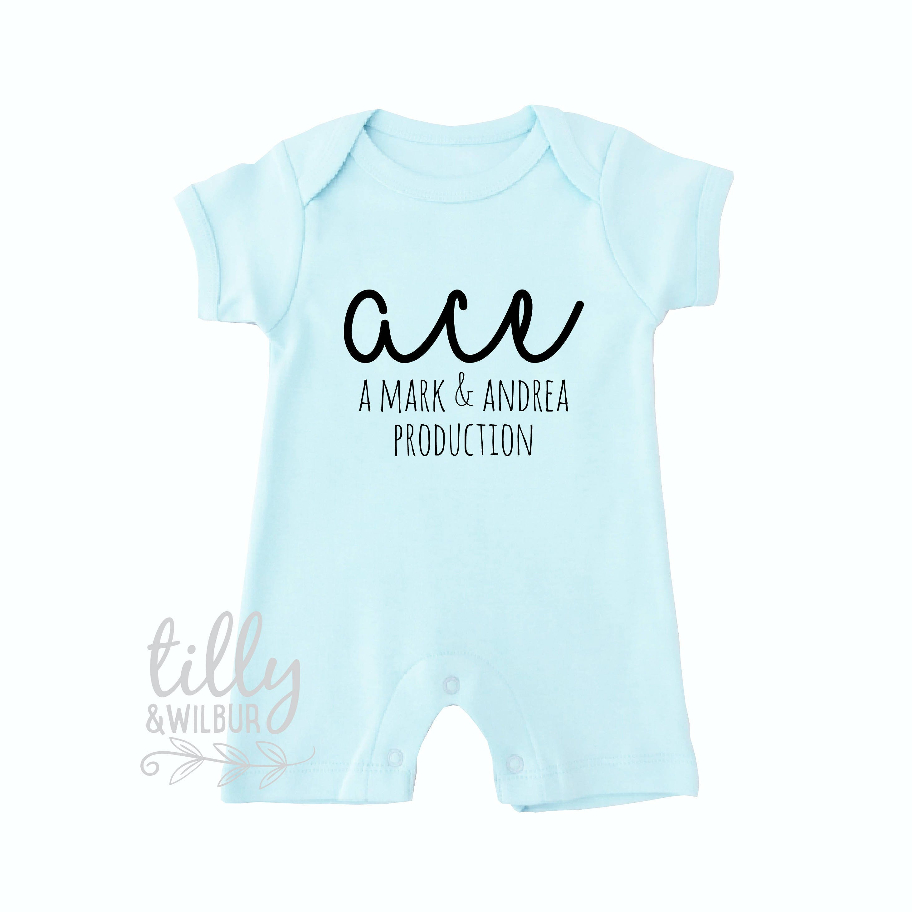 New baby gift personalised baby bodysuit a production of gift new baby gift personalised baby bodysuit a production of gift for new parents production bodysuit with names organic newborn gift negle Image collections