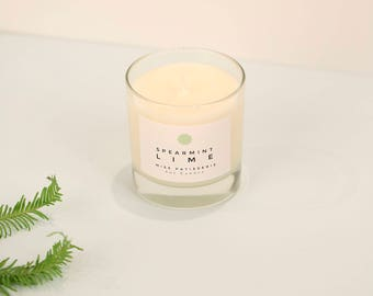 Spearmint and Lime Soy Wax Candle