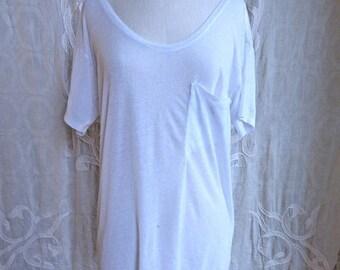 SUMMER SALE Helmut Lang Distressed White T-shirt