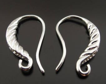 20 pcs Platinum earring hooks,with Rhinestone,Platinum Fish hooks,platinum finding,earring setting,platinum ear wire,rhinestone earring hook