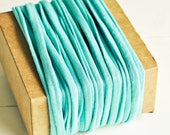 T-Shirt Twine in Solid Aqua Blue - 6 Yards - Turquoise Ribbon Rustic Cord Trim Fun Pretty Packaging Gift Wrapping Wedding Party Decor