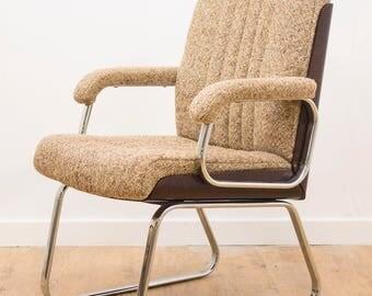 Retro Danish Rosewood & Fabric Armchair Office Desk Chair G Plan Eames Era