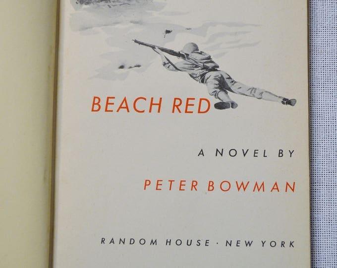 Beach Red by Peter Bowman Vintage Hardcover Book World War II WWII  Panchosporch