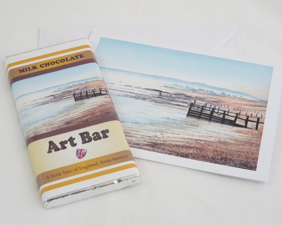 Art Bar and Card Deal, Milk Chocolate 100g