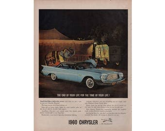 Poster advertisement of a 1960 Chrysler - 13