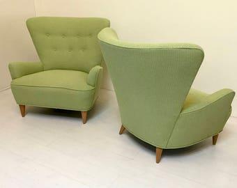 Pair of Heywood Wakefield Wingback Chairs