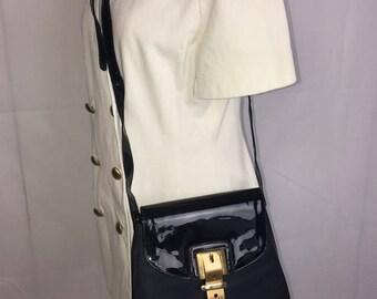 Moschino Black Vintage Shoulder Bag