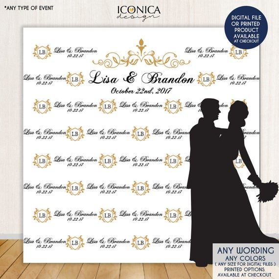Photo Booth Backdrop Custom Step And Repeat Engagement