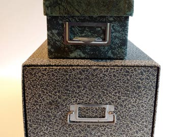 2 Vintage  Cardboard  Office File Boxes