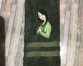 Mulan  towel/ Mulan Towel/ Mulan gift/ Mulan birthday/